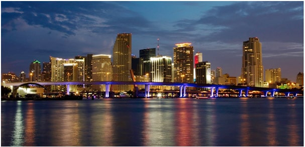 Skyline of Miami,FL